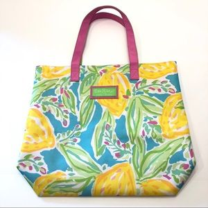 Lilly Pulitzer | Lemon Print Canvas Tote
